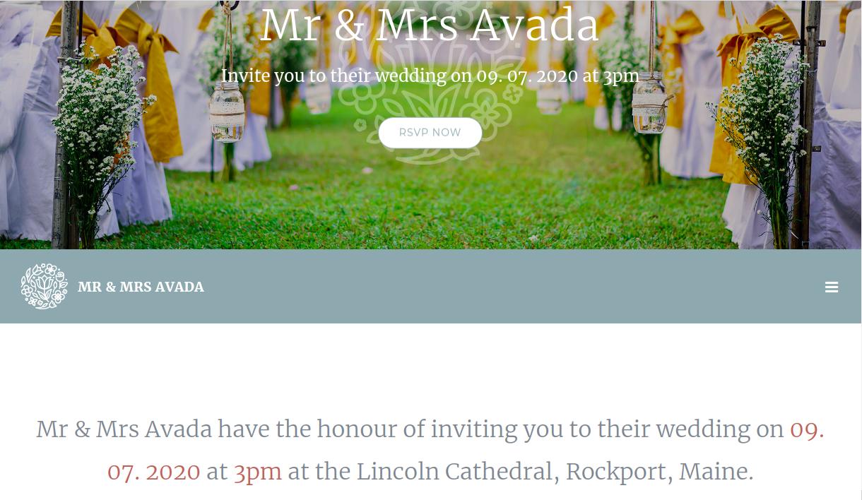 Wedding Demo